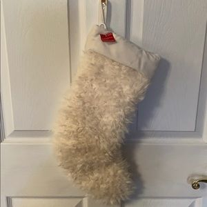 Plush faux fur Christmas stocking new